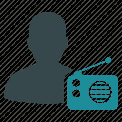 communication, connection, dictor, listen, news, radio, signal icon