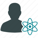 science, atom power, atomic, energy, nuclear weapon, physics, radiation icon
