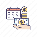 payday, salary icon, salary, wages icon