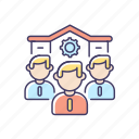 company, personnel, staff, company icon