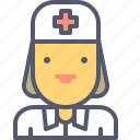female, hospital, medic, medicine, nurse icon