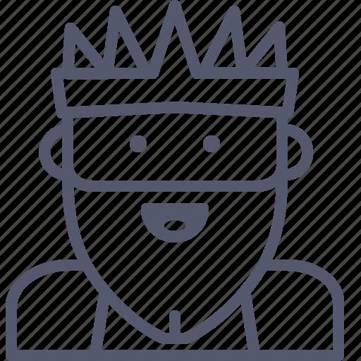 beard, emperor, king, president icon