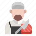 avatar, butcher, meat, occupation, profession, steak, meat store icon