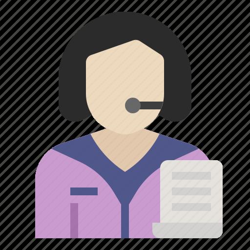 avatar, clerk, job, occupation, profession icon
