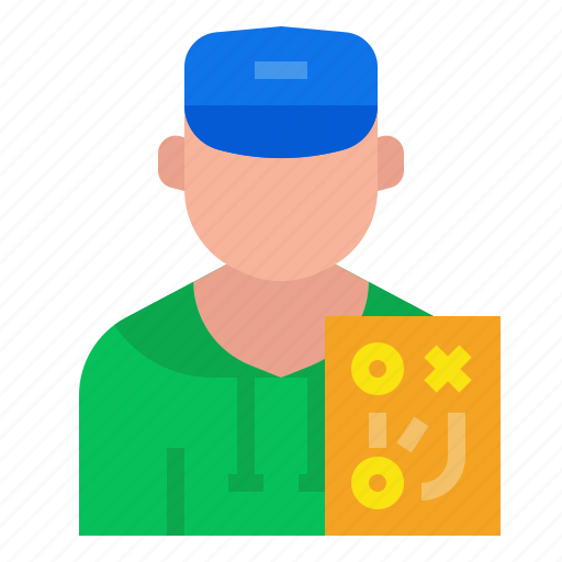 avatar, coach, job, occupation, profession, sport, strategy icon