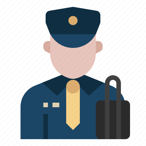 airport, avatar, border, custom officer, immigration, occupation, officer icon