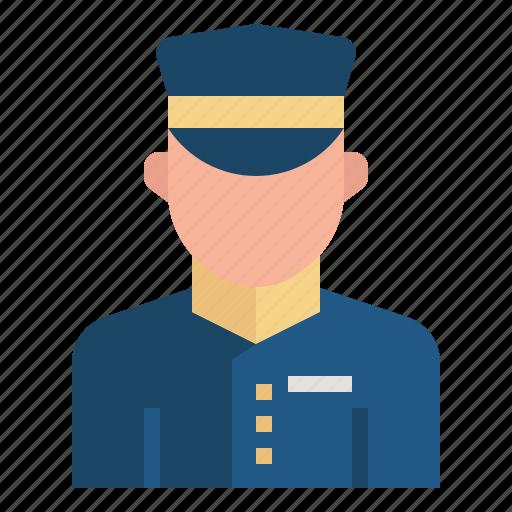 avatar, doorman, hotel, job, occupation, porter, profession icon