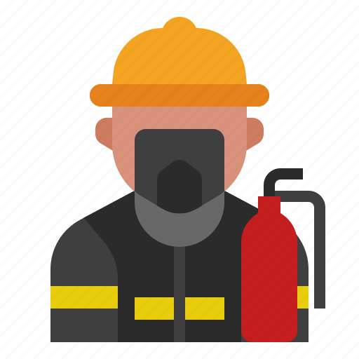 avatar, firefighter, fireguard, fireman, occupation, profession, rescue icon