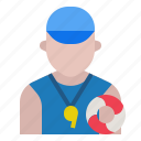 avatar, lifeguard, profession, rescue, safety, security, swimming pool icon