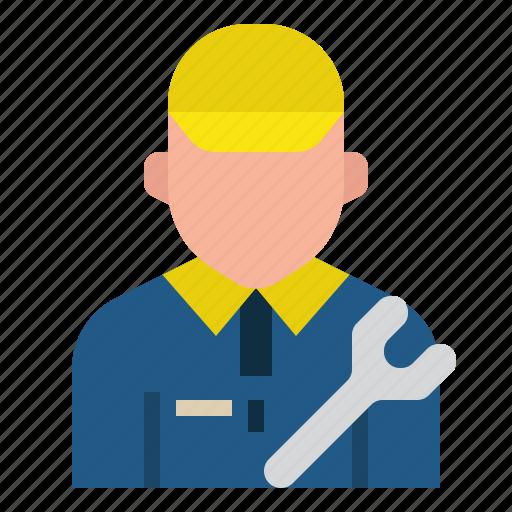 avatar, mechanic, occupation, profession, repair, service, tool icon