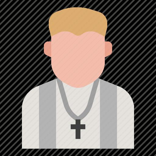 catholic, chiristian, jesus, monk, pastor, priest, religion icon