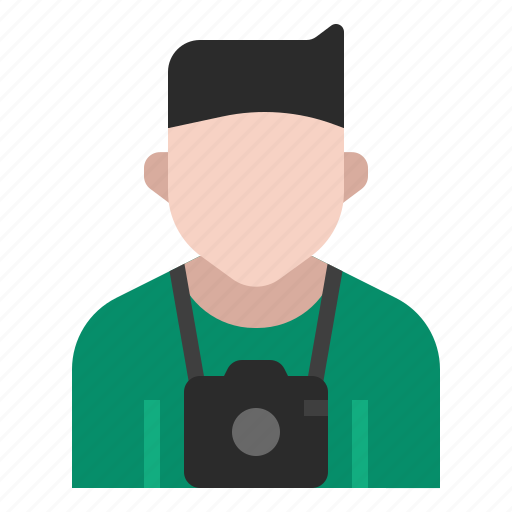 avatar, camera, cameraman, job, occupation, photographer, profession icon