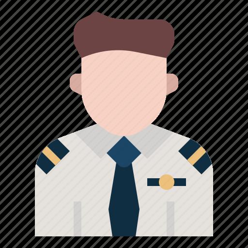 aircrew, airlines, avatar, captain, flight, pilot, plane icon