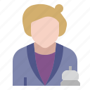 checkin, help, hotel, information, occupation, reception, receptionist icon
