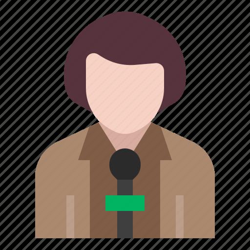 avatar, interview, journalist, news, occupation, profession, reporter icon