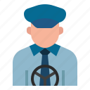 avatar, cabbie, chauffeur, driver, occupation, profession, taxi driver icon