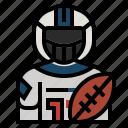 athletes, avatar, football, quarterback, sport, unitedstate, american football player