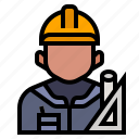 architect, avatar, construction, floorplan, occupation, profession icon