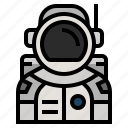 astronaut, astronomy, avatar, cosmonaut, science, space icon