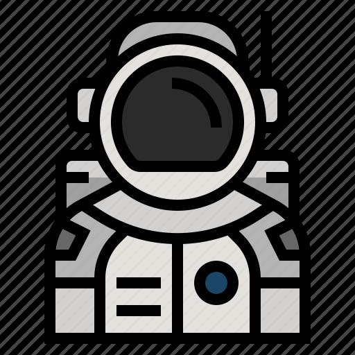astronaut, astronomy, avatar, cosmonaut, science, space icon
