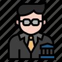 avatar, banker, business, businessman, capitalist, economist, manager icon