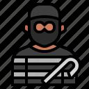 avatar, burglar, criminal, crook, robber, stealing, theif icon