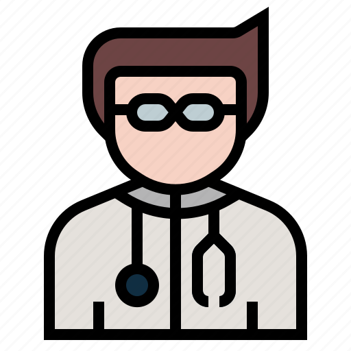 avatar, doctor, hospital, medical, occupation, physician, profession icon