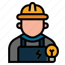electrician, lineman, occupation, profession, technician, wireman, electrical engineer