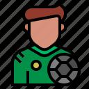 avatar, footballer, occupation, soccer, sport, sportsman, football player icon