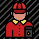 fuel, gas, gasstation, job, occupation, petrol, gas station attendant icon