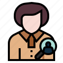avatar, employee, human resource, job, management, resource, selection icon
