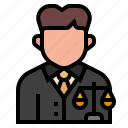 avatar, court, justice, law, lawyer, occupation, profession icon