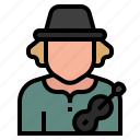 concert, guitar, job, musician, occupation, profession, singer icon