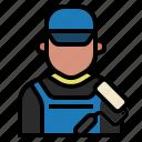 avatar, decorator, job, labour, occupation, painter, wall painter icon