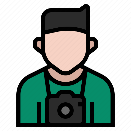 avatar, camera, cameraman, job, occupation, photographer, profession icon