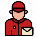 avatar, delivery, letter, mail, occupation, postman, profession