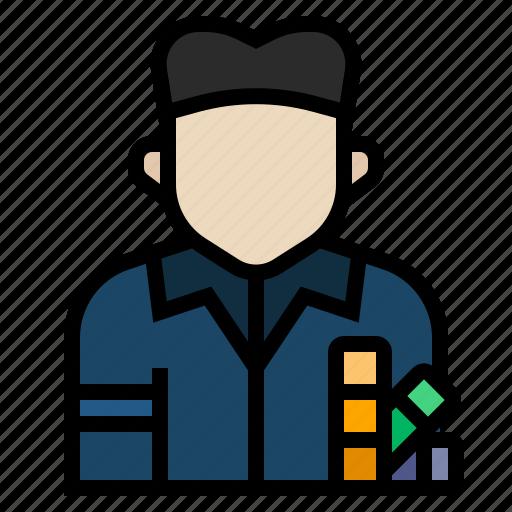 avatar, job, occupation, printer, profession icon