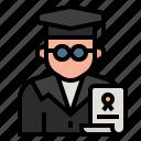 avatar, education, expert, graduate, occupation, profession, teacher icon