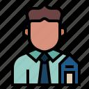 avatar, broker, occupation, profession, realestate, realestateagent, seller icon
