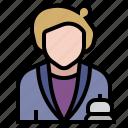 checkin, information, job, occupation, profession, reception, receptionist icon