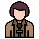 avatar, interview, job, journalist, occupation, profession, reporter icon