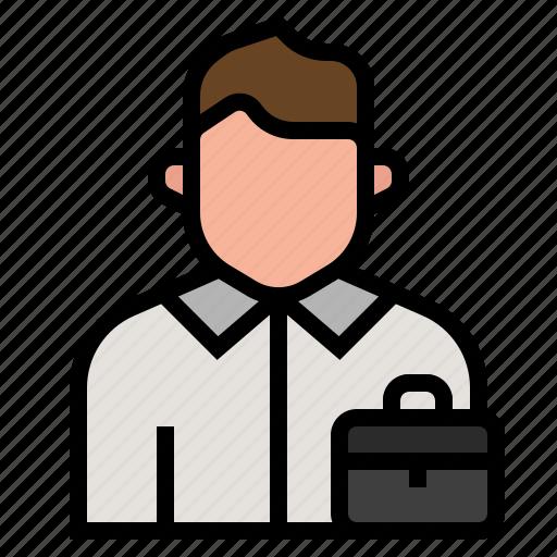 avatar, job, occupation, profession, salesman, seller, transaction icon