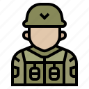 army, avatar, military, occupation, profession, soldier, war icon