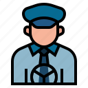 cabbie, chauffeur, driver, driving, occupation, profession, taxi driver icon