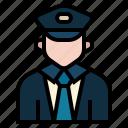 avatar, conductor, crew, occupation, profession, rail, train conductor icon
