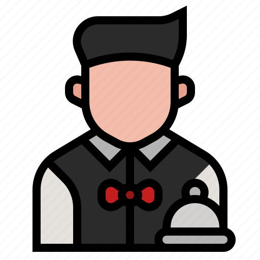 avatar, dining, profession, restaurant, serve, service, waiter icon