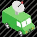 broadcasting van, journalist van, media van, news van, satellite van