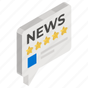 media ratings, news feedback, news ranking, news ratings, newspaper ratings, newspaper reviews, testimonials icon