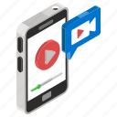 live streaming, media player, multimedia, video player, video recording, videostream icon