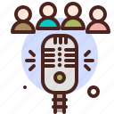 group, mic, interview, news